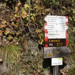 Wegweiser des Percorsi Occitani