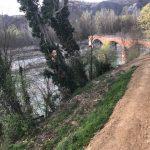 Der Tanaro im Frühjahr 2017, nach der großen Flut