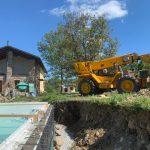 Poolbau im Südpiemont