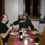 Schwertfisch auf Risotto und dazu Nebbiolo